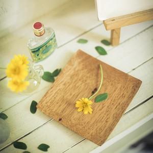 木のプレートS 小皿 スクエア 手作り