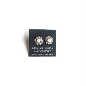 turquoise earring -flower-