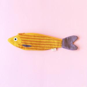 《魚/ニシン》 おさかなポーチ DON FISHER ドンフィッシャー MUSTARD HERRING アラスカのニシン スペイン 輸入雑貨 マスタード
