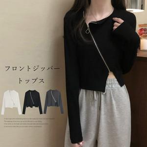 【即納】Tシャツトップス ジッパートップス fa2336