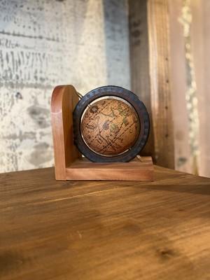 アメリカ雑貨 置物 木製 地球儀 ビンテージ USA