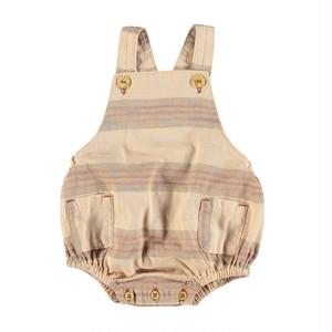 【piupiuchick】Baby romper  almond & multicolor stripes (SS21.BB2106A)