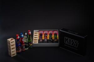 KISS「ロックレジェンズ酒シリーズ」4本セット + +KISS枡 5個セット 第1弾 オリジナルBOX付