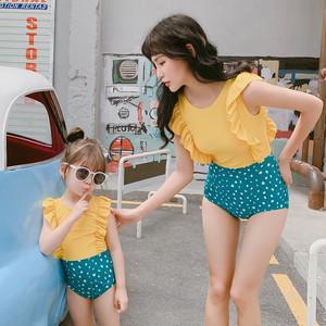 キッズ水着 親子揃い 子供水着 女児水着 女の子水着 ロンパース水着 フリル ジュニアスイミング ウェア 9424