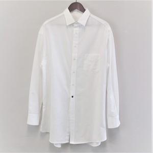 <OSOCU>知多木綿 知多晒 真っ白な ロングシャツ サイドスリットデザイン