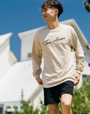 【9/2(wed)21:00販売開始】ThreeArrows L/S TEE (beige)