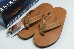 新品 Rainbow Sandals Luxury Leather Single sole 01095