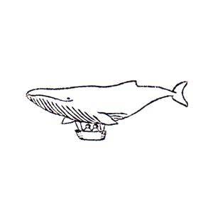 いつか飛行船にのろうね Airship of whale