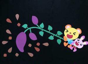 【秋の壁面装飾】芋掘りだからひっぱって