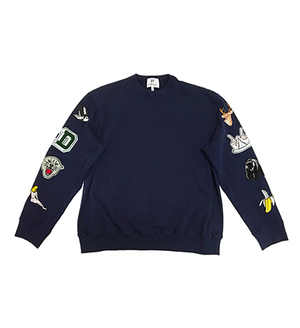 PATCH SWEAT SHIRTS  (NAVY)