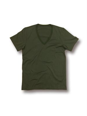V-Neck tee /Khaki VネックTシャツ / カーキ BD12-TS002