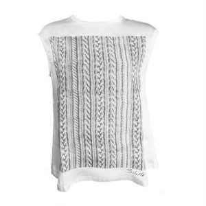 KNIT PRINT SILK T-SHIRTS