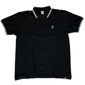入荷待ち【web新発売‼】LET'S KENDO‼刺繍ロゴ入りラインポロシャツ/ブラック