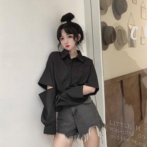【トップス】新作春秋韓国風シンプル POLOネックゆったり合わせやすいシャツ