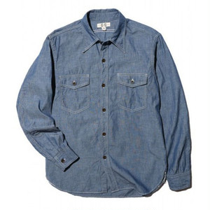 JOHN GLUCKOW The Everyday Work Shirt インディゴ [JG43112]