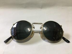 ビンテージ 跳ね上げ式 ラウンド サングラス 丸眼鏡 OLD アンティーク