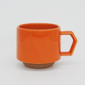 CHIPS stack mug. SOLID COLOR orange