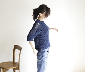 summer sweater(s) navy / サマーセーター(s) 紺