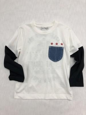 デニムポケット付Tシャツ72791オフ
