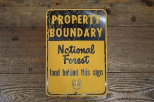 USED US FOREST SERVICE Steel Sign 50s G0312
