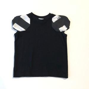 【21SS】フランキーグロウ ( frankygrow ) DISTORTED CIRCLR SLEEVE TEE[F]black‐white×BK Tシャツ トップス