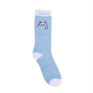 RIPNDIP - Peek A Nermal Socks (Baby Blue / White)