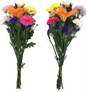 店頭渡し!ロングサイズ【生花の仏花】華やかなプレミアム1対(2束) お墓に A-3-2