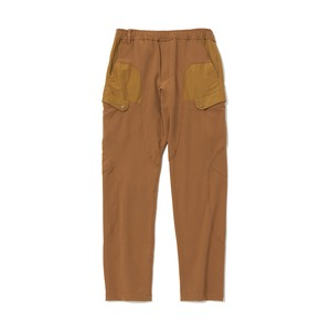 STRECHED TWILL TAPERED TECH  PANTS - BEIGE