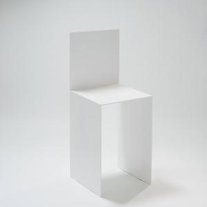 シェーズ・プリエ (白) -Chaise Pliée (White)- Seat Height 600mm