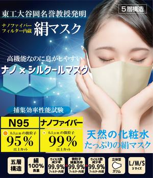 高機能なのに息がしやすい「ナノ×シルクールマスク」 10色展開  接触冷感   紫外線99.2%カット