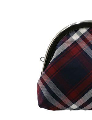 Atelier Kyoto Nishijin/西陣織シルク・山型眼鏡ケース・タータンチェック・日本製