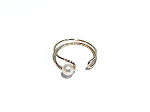 K18 Line pearl ring&earcuff / 18金 ラインパールリング&イヤーカフ