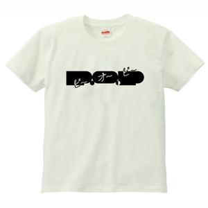 P.O.PロゴTシャツ 2017SUMMER(オフホワイト / ブラック)