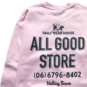 ALL GOOD STORE / AGS DOGGY LOGO Sweat / Pink