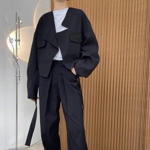 2色/デザインルースショートジャケット ・1700