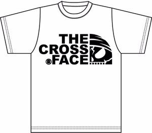 クロスフェイスTシャツ(黒文字)