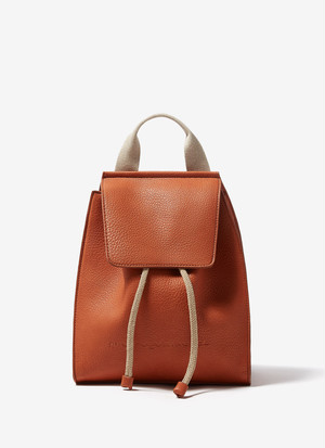 GRANULATED FAUX-LEATHER BACKPACK