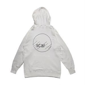 scar /////// CIRCLE HOODIE (Vanilla White)