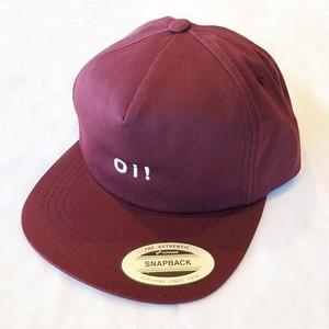 Oi! 5-PANEL SNAPBACK CAP BURGANDY