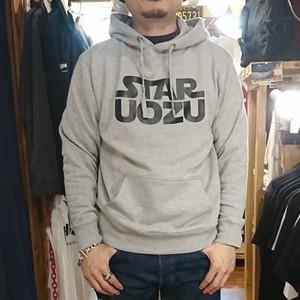 STAR UOZU パーカー グレー×ブラック