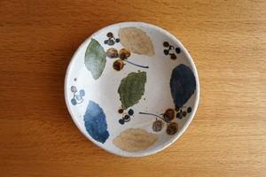 砥部焼/銘々皿(大)/木の葉/森陶房