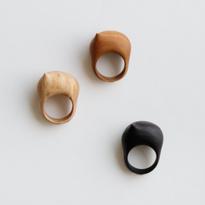 """ONION"" Wood ring"