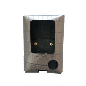 Freestylelibre Leather case Shiny gray