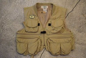 USED 90s L.L.Bean Fishing Vest -Medium V0566