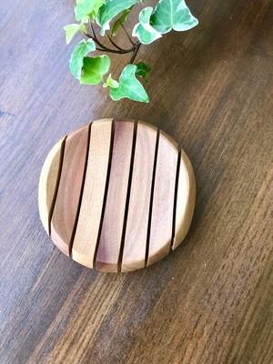 木のトレイ 丸型