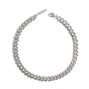 Cut chain silver necklace