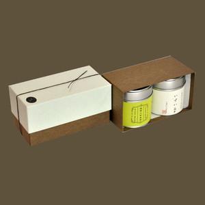 小缶2本箱 八十八夜の茶/抹茶入玄米茶