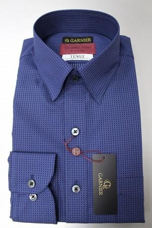 GARNIER ガルニエ ボタンダウンドレスシャツ ブルー