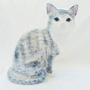 Vintage Grey Cat Object