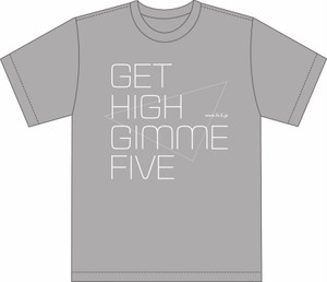 GET HIGH GIMME FIVE Tシャツ グレー